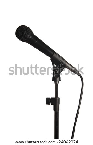 photo of microphone isolated on white background with clipping path