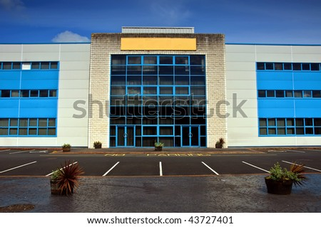 photo of modern office block units for rent,copy space - stock photo