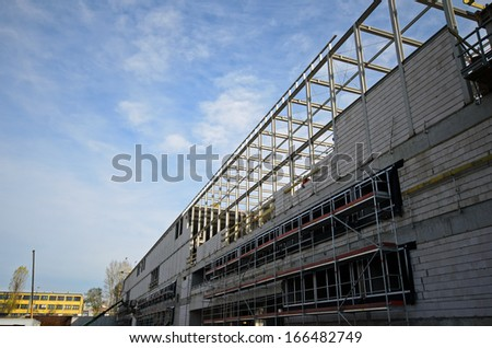 Photo of new building being constructed