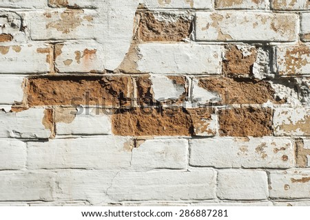 Photo of old brick wall backgrounds. Vintage background.