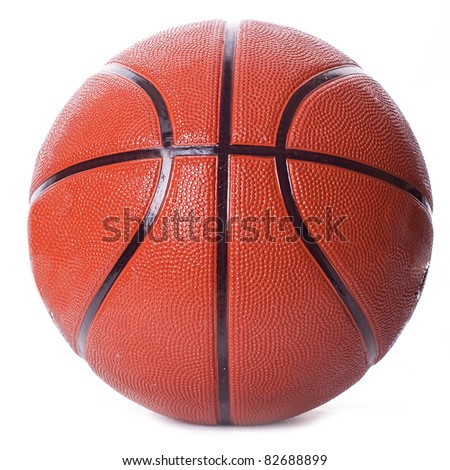 Photo of one basket ball isolated in white background