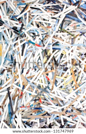Photo of Paper ribbons (Texture) - stock photo