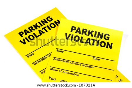Parking ticket violation stock photos images pictures for Motor vehicle ny pay tickets