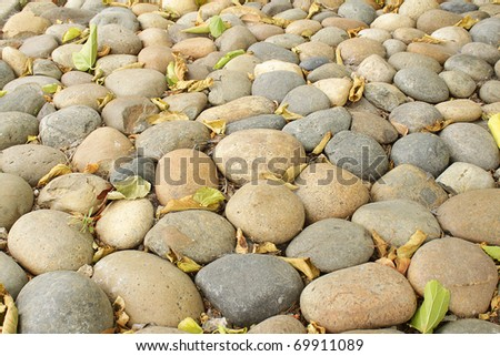 Photo of pebbles, good as a background - stock photo