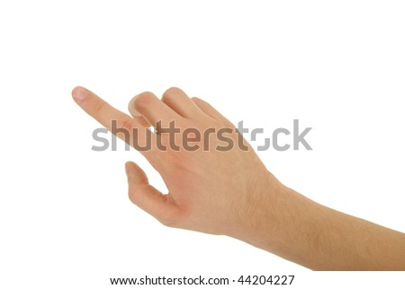 photo of pointing finger isolated - stock photo