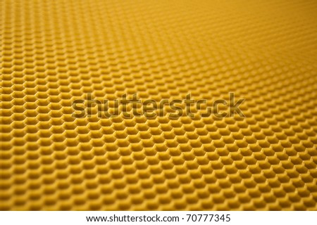 Photo of real beeswax honeycomb - stock photo