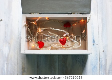 Photo of red heart and rain - stock photo