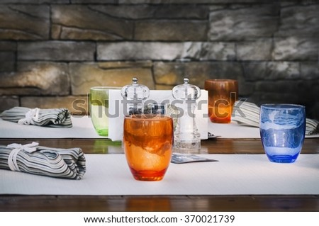 Photo of Restaurant Table Serving - stock photo