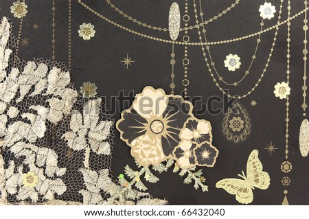 photo of retro background paper - stock photo