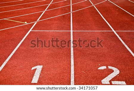 Photo Of Running Track Lanes On A Sports Stadium