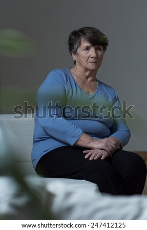 Photo of sad lonely woman with depression - stock photo