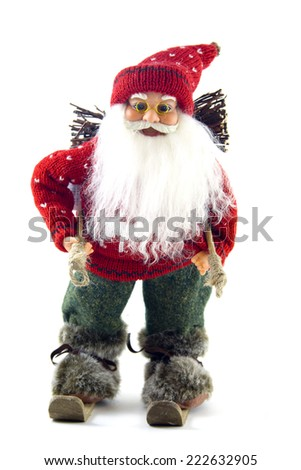 Photo of Santa Claus with sky - stock photo