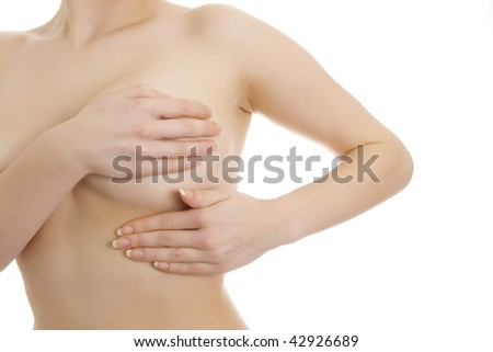 Photo of sexy woman body part. Isolated. - stock photo