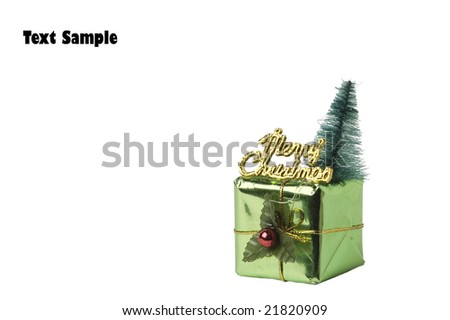 Photo of small gift box isolated on white