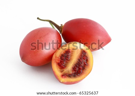Photo of Solanum Betaceum, also known as Tamarillo.
