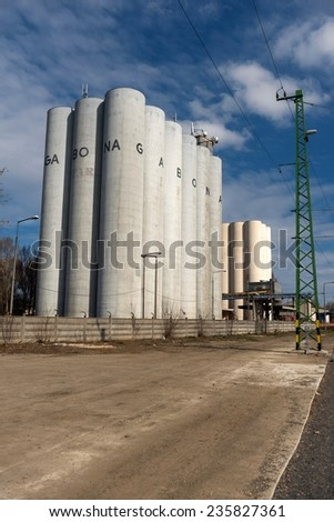 Photo of Storage silos in daylight angle shot