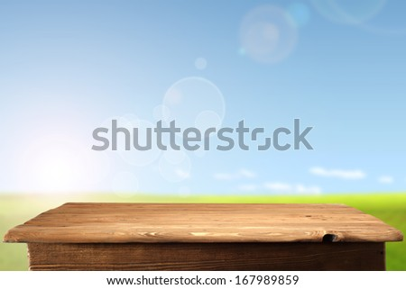 photo of table and sky  - stock photo