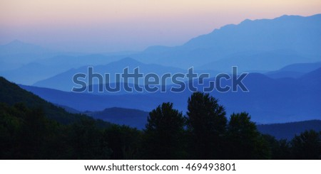 photo of the beautiful mountains on the sky background, Macedonia