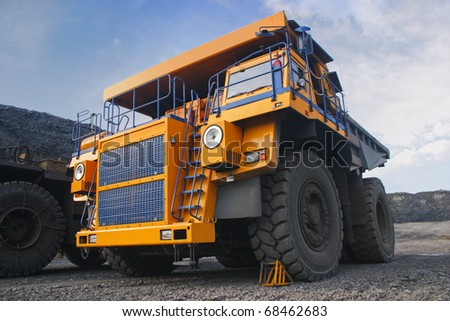 Photo of the big mine truck