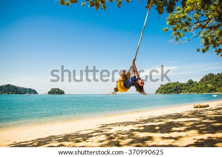 Photo of the Concept: enjoyment, happiness and freedom - stock photo