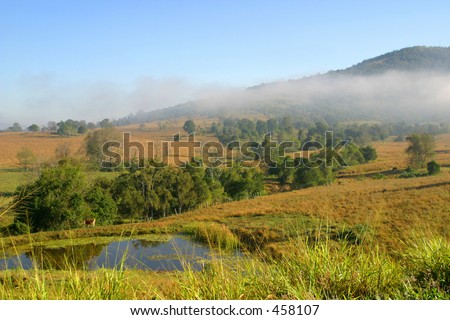 Photo of the countryside in Queensland Australia. - stock photo