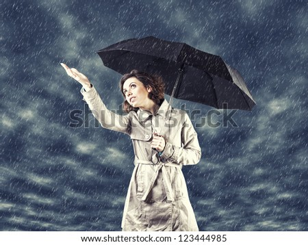 Photo of the girl with umbrella in a hand