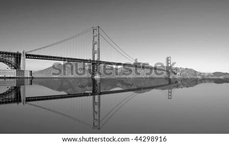photo of the golden gate bridge in san francisco - stock photo
