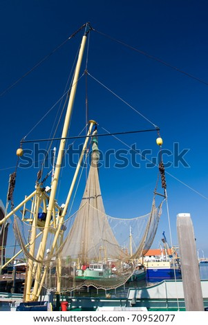 Photo of the harbor in the Netherlands - stock photo