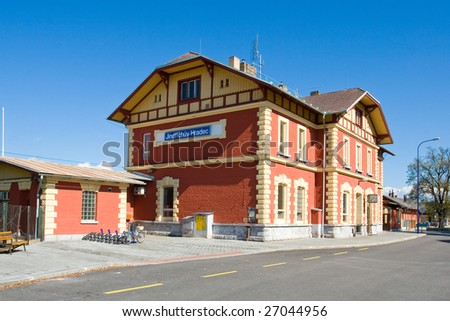 Photo of the historical railway station - Czech republic