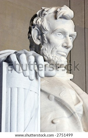 Photo of the Lincoln memorial in Washington D.C. This memorial honors president Abraham Lincoln - stock photo