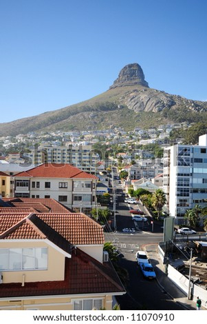 Photo of the Lion Head in Cape Town - stock photo