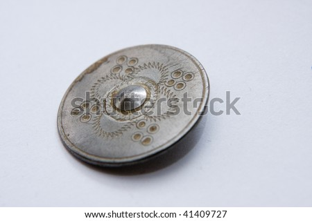 Photo of the metallic historical pin