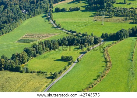 Photo of the nature and countryside from the height