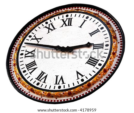 photo of the old clock isolated - stock photo