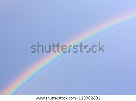 Photo of the rainbow in the sky after the rain