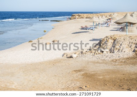 Photo of the sand beach  in Marsa Alam, Egypt