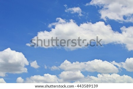 Photo of the sky, where clouds are light in color