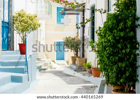 photo of the street in Greece