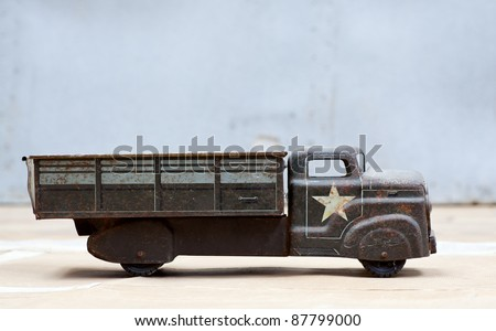 Photo of Toy army truck - stock photo