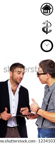 Photo of two respectable businessmen having a conversation