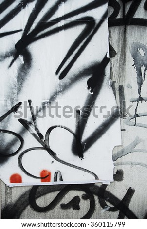 Photo of urban background or scribbled painted texture - stock photo