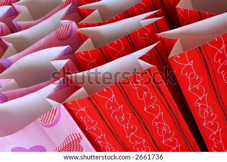 Photo of Valentine's Day Treat Bags - stock photo