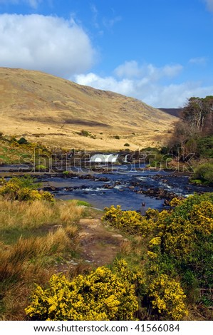 photo of vibrant scenic nature capture in the west of ireland - stock photo