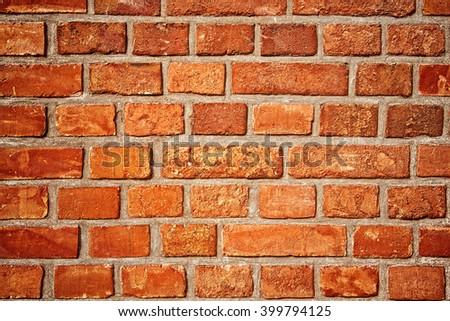 Photo of wall made of brick. - stock photo