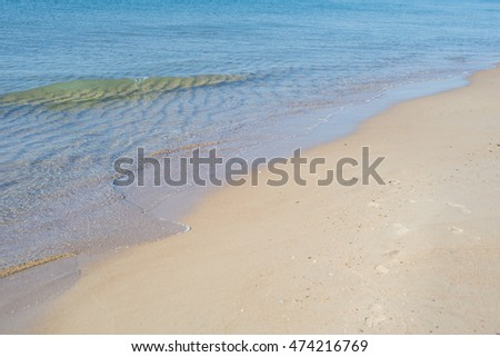Photo of waves on the beach