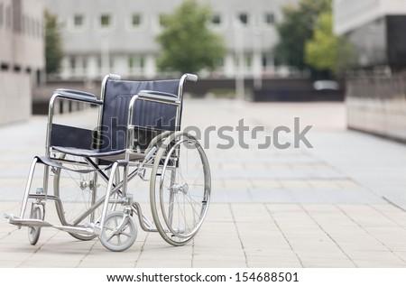 Photo of wheelchair - stock photo