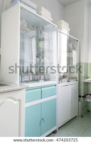 Photo of white closet with medical attribute
