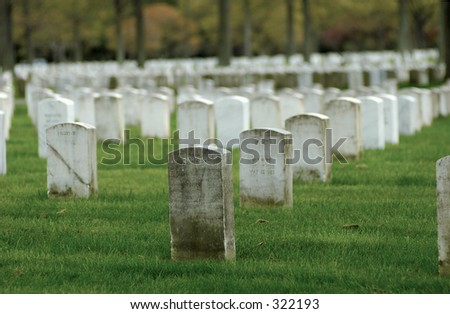 Photo of White Marble Tombstones