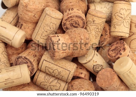 photo of wine corks closeup