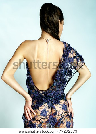 Photo of womans back - stock photo